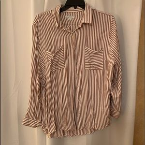Ava & Viv Striped Button Down